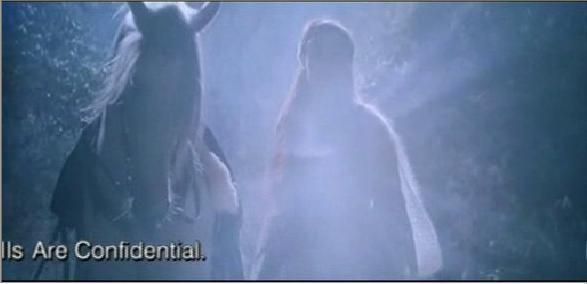 Первая встреча Арвен с хоббитами