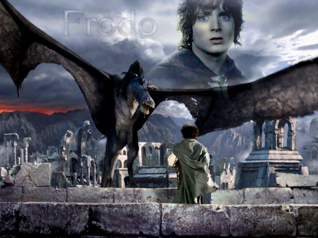 Фродо и Назгул в Осгилиате 1024х768